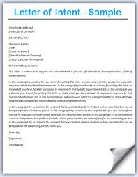 Letter Intent Example for Teaching Job