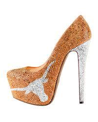 limited edition texas longhorns high heel crystal pump shoes u2013 herstar