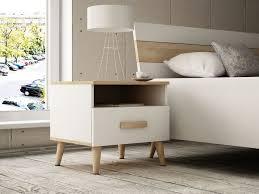 retro nachttisch mit schublade skandinavisches design 50 cm