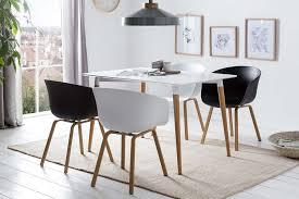 esszimmer essgruppe 5 tlg weiß schwarz günstig möbel küchen büromöbel kaufen froschkönig24