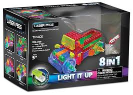 100 Trucks Powerblock Laser Pegs Power Block 8 In 1 Truck Lighted Construction Toy