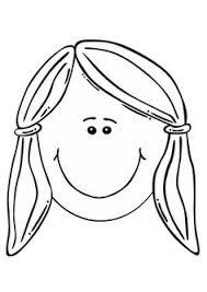 Coloring Page Girls Face