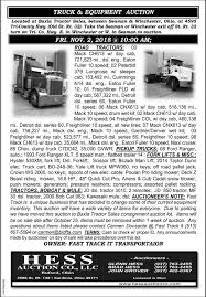 100 Commercial Truck Auction Equipment Hess Co Sardinia OH
