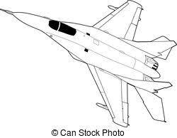 Russian jet fighter aircraft MiG 29 Landing of russian