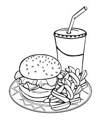 Full Image For Printable Coloring Pages Food Groups Page Of Chain Hamburgers Colouring