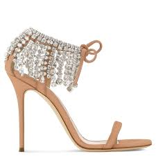 giuseppe zanotti mistico swarovski crystal ankle tie high heel