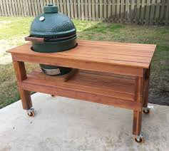 Cypress Table For My Big Green Egg
