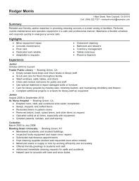 Janitorial Sample Resume Charming Janitor Examples Regarding Portraits Objective For