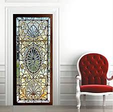 haipeiy türaufkleber 3d glasmalerei mit abschrägung tür