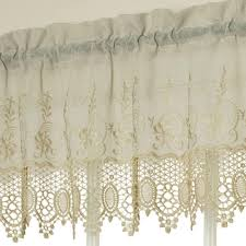 Annas Linens Curtain Panels by Anna Maria Macrame Embroidered Panel And Valance Habitat