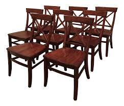 Aaron Wood Seat Chairs - Set Of 8 | Chairish Best Pottery Barn Wooden Kitchen Table Aaron Wood Seat Chair Vintage Ding Room Design With Extending Igfusaorg Chairs Interior How To Select Chair For Bad Backs Bazar De Coco Classic Rectangular Traditional Large Benchwright Round Glass Set2 Inch Fniture And Metal Bar Stools