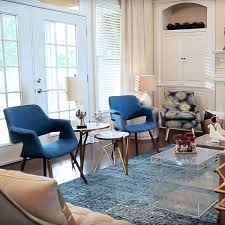 An Accent Chair Can Make A Room These Blue Vintage Inspired