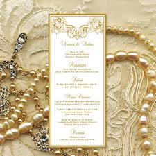 Printable Wedding Menu Template Vienna In Gold Microsoft Word Editable Text Instant Download Order Any Color DIY You Print 2431184