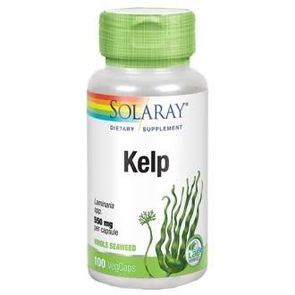 Solaray Kelp With Folic Acid - 600mg, 100 Capsules