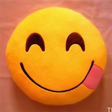 TI US Emoji Smiley Emoticon Yellow Round Cushion Pillow Stuffed
