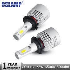 osl h7 led car headlight bulb 72w 8000lm 6500k auto headl