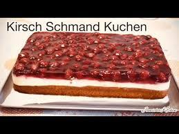 lecker kirsch schmand kuchen sourcream cherry cake