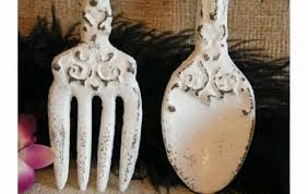 Wood Fork And Spoon Wall Hanging by Fork And Spoon Wall Decor Roselawnlutheran