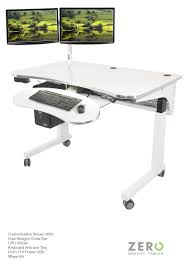Dual Screen Standing Desk by Deluxe Electric Lift Table The Adjustable Height Desk Sit Down