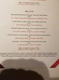 menu picture of restaurant esszimmer salzburg tripadvisor