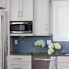 blue glass tile backsplash contemporary kitchen hgtv