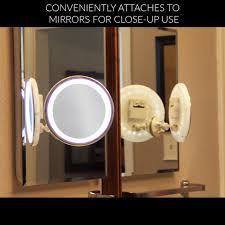 10x magnifying lighted makeup mirror warm led tap