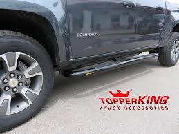 Grey Chevrolet Colorado With Black Out Nerf Bars - TopperKING ...