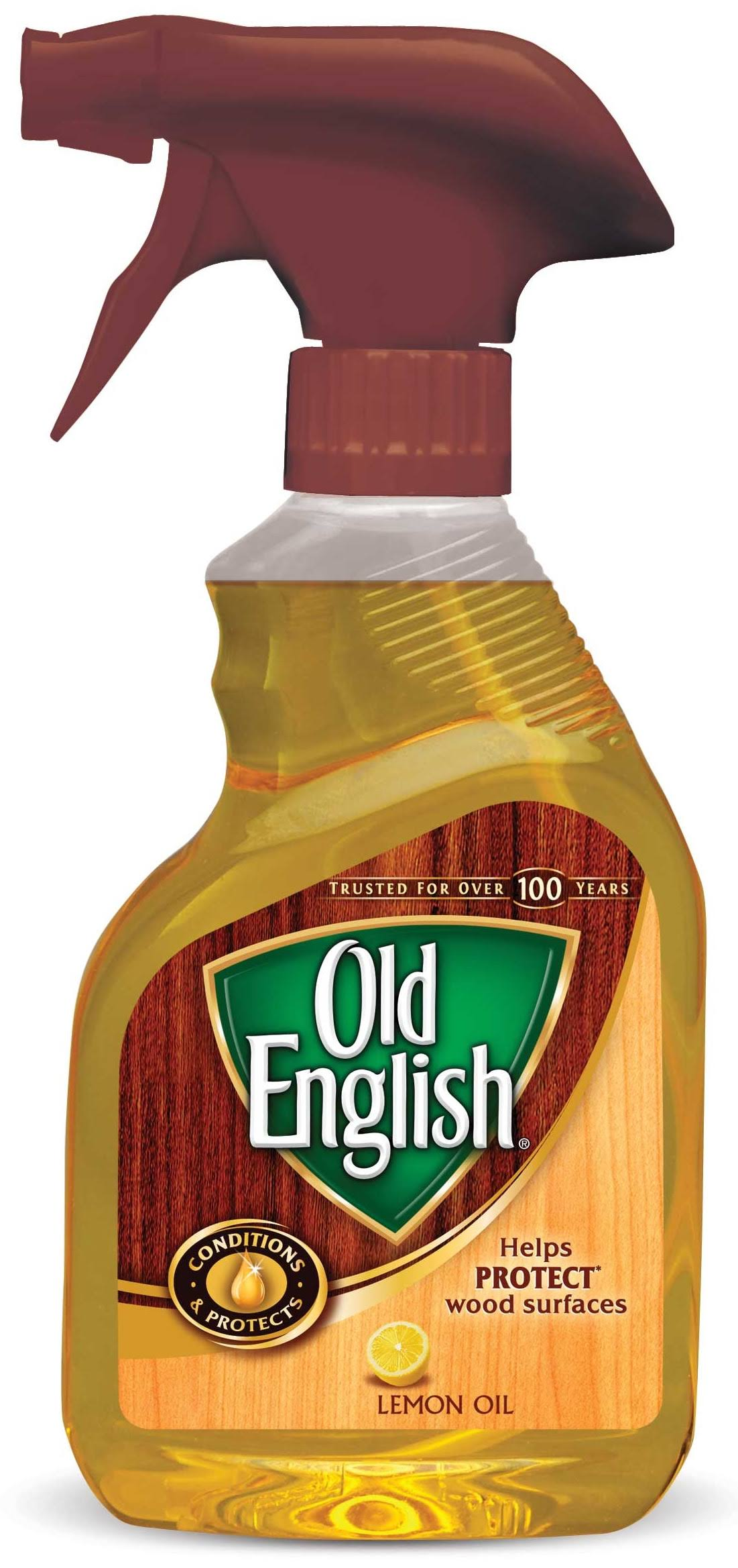 Old English Furniture Polish - Lemon Oil, 12oz Spray Bottle