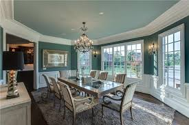Modern Teal Dining Room