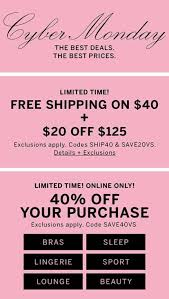 Victoria's Secret Cyber Monday Ad For 2019 | BlackFriday.com Free Shipping W Extra 6075 Off Ann Taylor Sale 40 Gap Canada Off Coupon Asacol Hd Printable Palmetto Armory Code 2018 Pinned April 24th A Single Item At Michaels Or Jcpenney Coupons May Which Wich Personal Creations Codes Online Fidget Spinner Uk Carters 15 Justice Coupons Husker Suitup Event Gateway Malls Store Promo Codes Up To 80 Dec19 Code Coupon N Deal