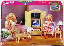 barbie folding pretty house living room set 4 dolls 67553 nrfb