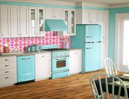 Turquoise Kitchen Appliances Ditch The Pink Backsplash Too Much Maybe But Leaning