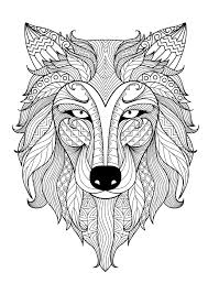 Incredible Adult Coloring Page Of A Wolf From The Gallery Animals Artist Mandala Colouring PagesDetailed