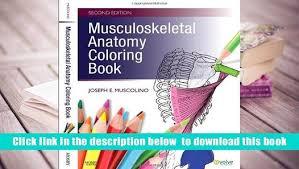 Musculoskeletal Anatomy Coloring Book Free Download Pdf E