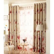 rideau fenetre chambre fleurs et ivoire tissu modèles chauds de rideaux de fenêtre