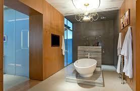 Modern Chandelier Over Bathtub by 40 Modern Bathroom Design Ideas Pictures Designing Idea