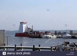 100 Fire Island Fair Harbor Garbage Boat At NY USA Stock
