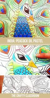 Peacock Oil Pastel