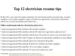 Australian Electrician Resume Examples Plus Industrial