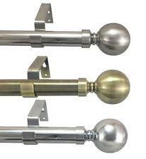 Telescopic Curtain Rods Uk by Metal Curtain Poles Ebay
