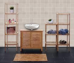 waschbeckenunterschrank wandspiegel bambus weiß mendler