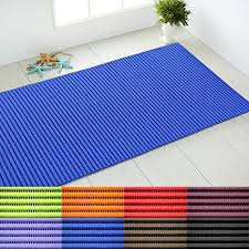 casa pura schaumstoff badvorleger rutschfest schnell trocknend badezimmer teppich reach zertifiziert sicherer halt waschbar pvc blau