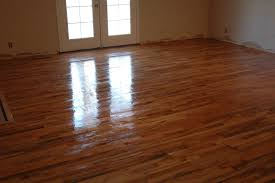 Buffing Hardwood Floors To Remove Scratches by Remodelaholic How To Finish Solid Wood Flooring Step By Step