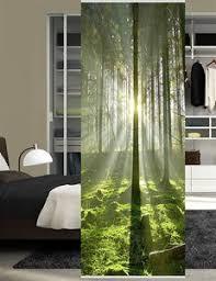 home wohnideen raumteiler aus blickdichtem dekostoff digitaldruck stockholm 245 x 90 cm grün