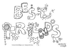 Best Friends Colouring Page