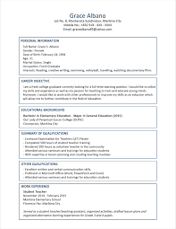 Sample Resume Educational Qualification New Format For Fresh Graduates Two Page