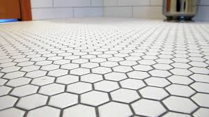 brilliant white hexagon glazed ceramic mosaic floor and wall tile