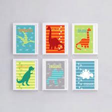 deco chambre dinosaure 6 affiches dinosaures décoration de chambre de garçon