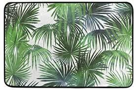 de ahomy rechteckiger teppich badteppich tropical