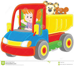 100 Big Truck Toys Little Boy In A Toy Truck Stock Vector Illustration Of